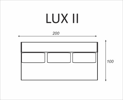 Kanapa LUX II - wymiary - Meble RODAN Czastary