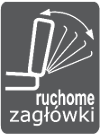 Mebel posiada regulację zagłówków - meble RODAN Czastary