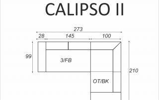 Narożnik CALIPSO II - wymiary - Meble RODAN Czastary