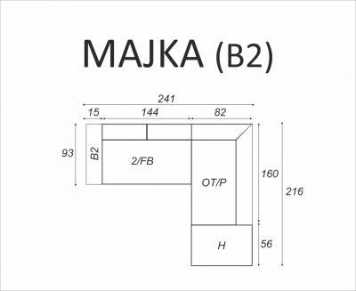 Narożnik MAJKA (B2) - Meble RODAN Czastary