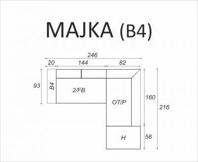 Narożnik MAJKA (B4) - Meble RODAN Czastary