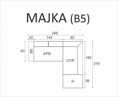 Narożnik MAJKA (B5) - Meble RODAN Czastary